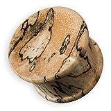 Fly Style® - 1 Stück - 4 bis 30 mm Konkaver Ohrplug Flesh Tunnel aus Tamarinde Holz -, Grösse:6 mm