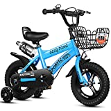 Bicicleta Infantil niño y niña   14 Pulgadas   A Partir de 3 años   V-Brake y Freno de contrapedal   14' Modelo BMX 2019,Blue