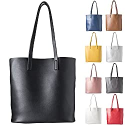 cecilia&bens Shopper | Damen Handtasche | Schultertasche, Black, standard