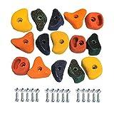 Klettersteine für Kletterwand Ausführung klein Set mit 15 Stück von Gartenpirat®