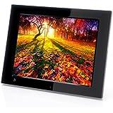 Xoro DPF 12B1 Digitaler Bilderrahmen 30,7 cm (12,1 Zoll) TFT-Display (4:3, SD/SDHC/MMC/MS Pro, USB 2.0, Diashow, Video-Wiedergabe, bewegungssensor, Fernbedienung) schwarz