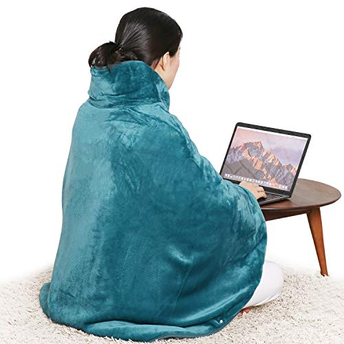 Mantella termica per schiena, collo e spalle, tecnologia di riscaldamento rapido, 6 livelli di temperatura, con spegnimento automatico e lavabile in lavatrice ...