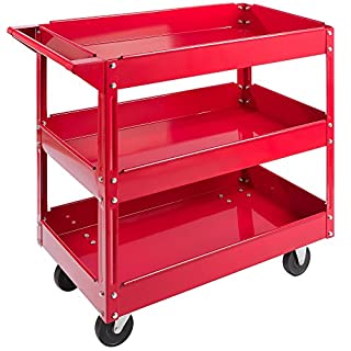 Arebos Workshop Tool Trolley with 2 or 3 levels / Large load capacity up to 220 lbs