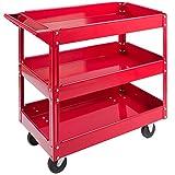 Arebos Werkstatt-Rollwagen Montagewagen/Große Belastbarkeit bis 100 kg / 2 oder 3 Fächer/Einzeln oder als Set (3 Fächer)