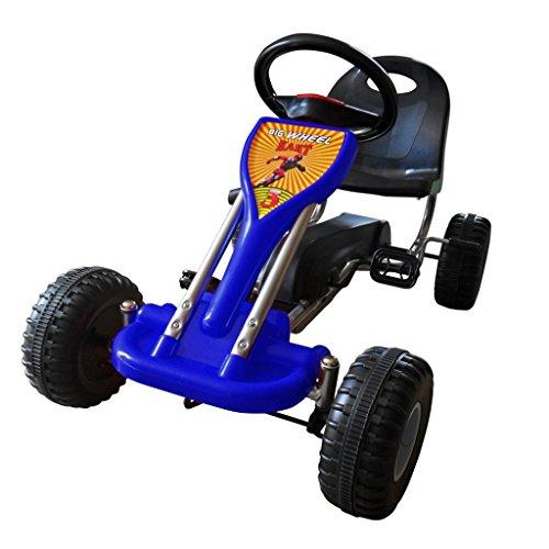 vidaXL Pedal Gokart 89x52x51cm Blau Kinderfahrzeug Tretauto Gokart Rennkart