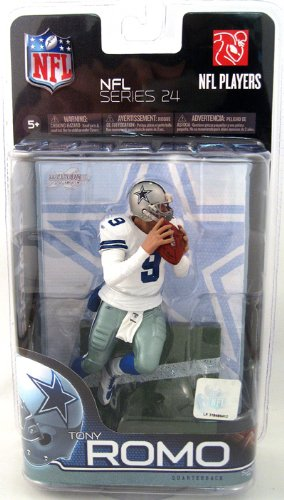 McFarlane Tony ROMO # 9 Dallas Cowboys weiß Jersey Uniform NFL Series 24 Action Figur