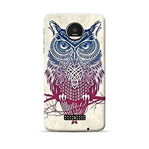 "Hamee Official Lafula 3D Printed Hard Back Case Cover for Motorola Moto G5 ""Owl"""