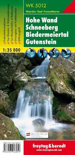 Freytag Berndt Wanderkarten, WK 5012, Hohe Wand - Schneeberg - Biedermeiertal - Gutenstein - Maßstab 1:35 000 (freytag & berndt Wander-Rad-Freizeitkarten)