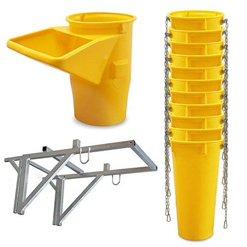 Profi Schuttrutsche Bauschuttrutsche Baurutsche 12 m, Set aus 11x Schuttrohr, Gestell und Einfülltrichter