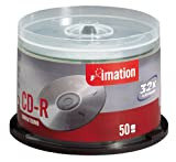 Imation 32x CDR Spindle Imation Retail Packaging with Rip Label 50-Pack Discontinued by Manufacturer