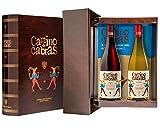 CAMINO DE CABRAS Estuche regalo - Producto Gourmet - Vino blanco - Albariño Rias Baixas + Vino tinto Crianza - Valdeorras - Mencía - Vino bueno para regalo - 2 botellas x 75cl