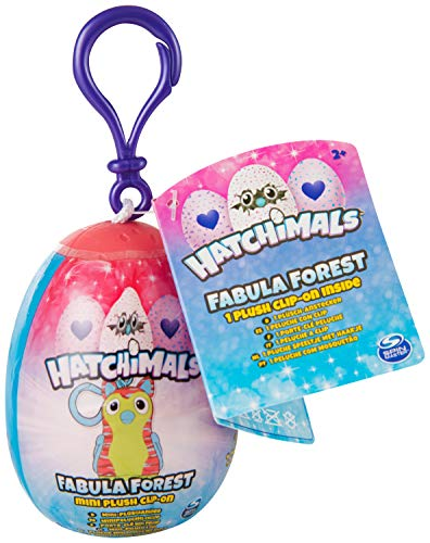 Hatchimals 2.5 '' Fabula Forrest Mystery Clip-on Plush in Egg
