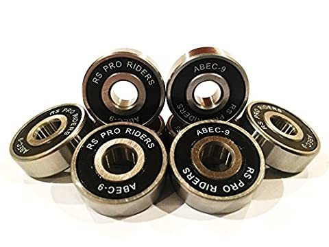 16x Noir ABEC 9627(7x 7x 22x 7mm) RS PRO Riders Skate Roulements Roller hockey Derby