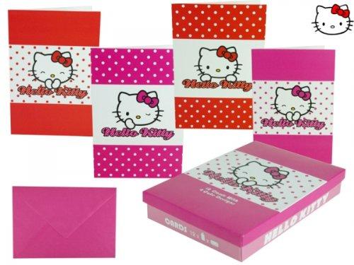 Dots Glückwunschkarte 4-fach sortiert in Geschenkbox, Klappkarten mit Umschlägen ()