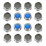 16 Stück Strahlregler M24 Mischdüse Messing Luftsprudler für Wasserhahn, Mischdüse mit Messing-Filter