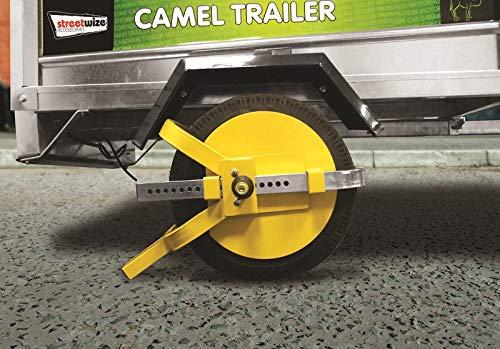 Tooltime Sabot de roue haute sécurité pour remorque/caravane 20-25 cm