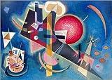 Poster 70 x 50 cm: Im Blau von Wassily Kandinsky - Hochwertiger Kunstdruck, Kunstposter