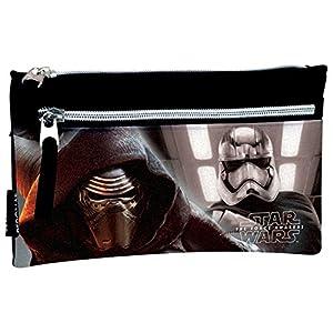 Star Wars- Estuche portatodo Doble con 2 Cremalleras, Multicolor, 22 cm (Montichelvo 53200)