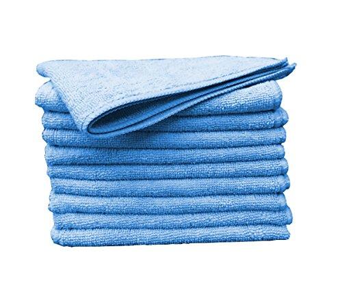 Mr. Perfect® Microfasertuch blau, fusselfreies Reinigungstuch - 10 Stück