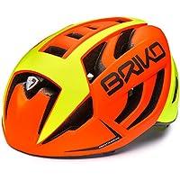 Briko Ventus Casco de Ciclismo, Unisex Adulto, Naranja/Amarillo, L