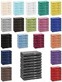 Betz 10er Pack Seiftücher Set Seiflappen 100% Baumwolle Größe 30x30 cm Handtuch Premium Farbe anthrazit