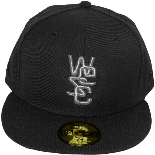 New Era Wesc x Casquette Fitted homme 59Fifty Overlay Wool Solid - Black - Taille 7 3/8 -