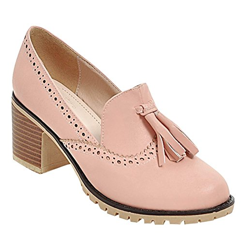 Pink Quaste Mee Borte Pumps Heels Damen Shoes Chunky xwwP6840q