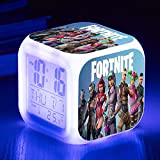 BEESCLOVER Changing Night Light Alarm Clock Kids Toy Gift 7