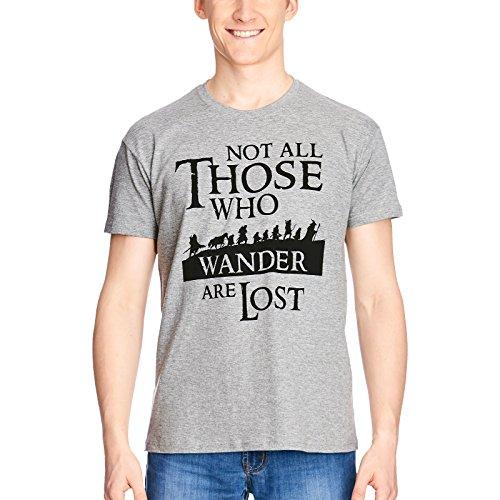 Elbenwald Herr der Ringe Herren T-Shirt Gefährten grau - M