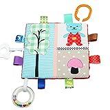 Taggy Baby-Sicherheitsdecke mit Rattle - Baby Sensory zerknittert und Zahnen Platz Lovey Spielzeug