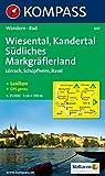 Wiesental, Kandertal, Südliches Markgräfler Land: Lörrach, Schopfheim, Basel. Wander- und Bikekarte. GPS-genau. 1:25.000
