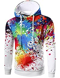 Felpa con Cappuccio Uomo, Beauty Top 2017 Hooded Sweatshirt 3D Manica Lunga Hoodie Cappotto Giacca Pullover Felpe Top Outwear