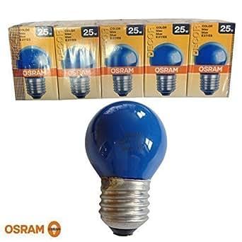 Osram Ampoule 25 W E27–Bleu-Lot de 5