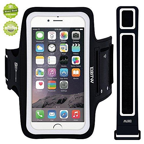 EOTW Sportarmband Handyhülle universell passend für iPhone, Samsung, HTC, usw, Oberarmtasche In Verschiedenen Farben und Größen für Laufen (5,5 Zoll, Schwarz)
