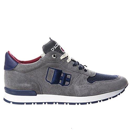 D'Acquasparta Sneaker Uomo Fatta a Mano in Italia Botticelli Suede Grey_44