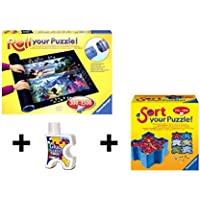 Pack Puzzle Roll 1500 Ravensburger. Tapete universal para transportar/guardar puzzles + pegamento + bandejas portapiezas