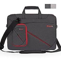 Ropch 17.3 Inch Laptop Bag Nylon Shoulder Messenger Bag Water Resistant Briefcase Sleeve Notebook Computer Case Cover with Handles, Shoulder Strap, Multiple Pockets for 17