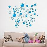 Wallpaper,Bubbles Circle Entfernbare Wandaufkleber Badezimmer Fenster Aufkleber Startseite DIY Dekoration Kingwo (Blau)