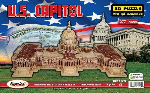 Holzbausatz -Waschington US Capitol - Kapitol - 3D Puzzle