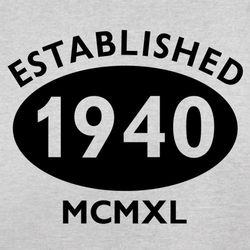 Gegründet 1940 Römische Ziffern - 77 Geburtstag - Herren T-Shirt - 13 Farben Hellgrau