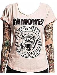 RAMONES - Negro Seal - Camiseta Oficial Mujer
