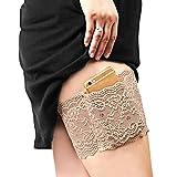 Vococal Anti chafing bands, oberschenkelband,Damen Lace Oberschenkel Bänder Socke/Anti-Scheuern Oberschenkel Bein Wärmer mit Cellphone Pocket