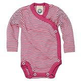 Cosilana - Baby Wickel Body 1/1 Arm, 50/56, geringelt Pep-Pink Natur, 70% Schurwolle kbT, 30% Seide - Ein Angebot der Nhos Service und Vertriebs GmbH - Wollbody
