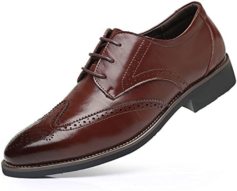 Zapatos De Cuero para Hombres Casual Spring Tallados Accesorios Brock Classic -