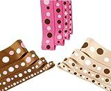 Best 4M Kid Art Supplies - Polka Dots Print Grosgrain; Beautifully Soft Polyester Petersham Review