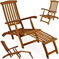 Folding wooden lounger OGD009