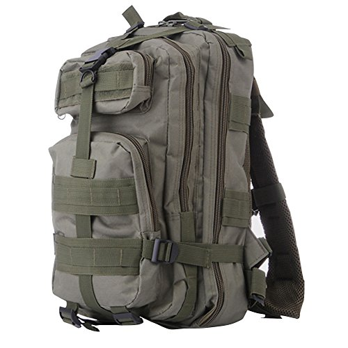 ELEAR® Sport esterno tattico militare dello zaino Molle Zaini campeggio Escursionismo Bag Borsa a tracolla Uomo Donna Outdoor Sport Camping Escursionismo sacchetto verde