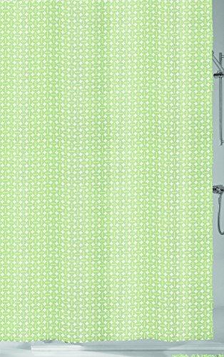 Kleine Wolke 5290619305 Dots Duschvorhang, Peva, linde, 180 x 200 x 0.2 cm