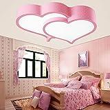 ZQ LED herzförmige Decke Lampen Mädchen Kinder Zimmer Schlafzimmer Leuchtlampen romantische Hochzeit , Pink-Remote control