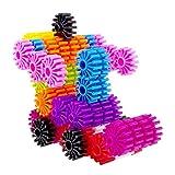 Eizur 80 Stück Getriebe Kunststoff Bausteine Rad Bauklötze Lernblöcke Zusammengesetzt Kampf Pädagogisches Spielzeug Kreative Blöcke Durchmesser 3.3CM für Kinder ab 3 Jahren